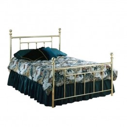 Hillsdale Chelsea Metal Poster Bed in Polished Brass Finish-Queen