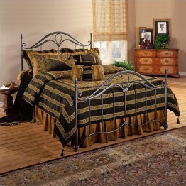 Hillsdale Kendall Metal Poster Bed in Bronze Finish-Queen