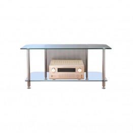 VTI AGR Series Metal and Tempered Glass Plasma/LCD TV Stand-Silver