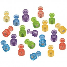Quartet Assorted Color Magnetic Push Pins (Set of 20)