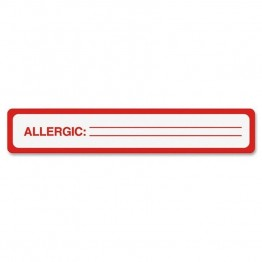 Tabbies Allergy Label (Set of 175)