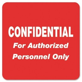 Tabbies Confidential Label (Set of 500)
