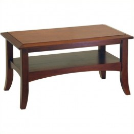 Winsome Rectangle Wood Coffee Table in Antique Walnut
