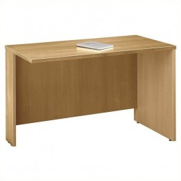 Bush Business Furniture Series C 48W Return Bridge in Light Oak