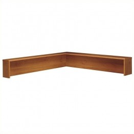 Bush Business Furniture Series C Reception L-Shelf in Auburn Maple