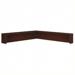 Bush BBF Series C Reception L-Shelf in Mahogany