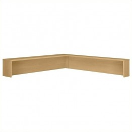 Bush Business Furniture Series C Reception L-Shelf in Light Oak