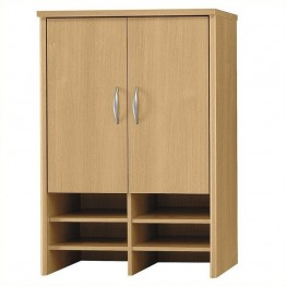 Bush Business Furniture Series C 30W Hutch in Light Oak