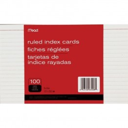 Mead Ruled Index Card (Set of 100)