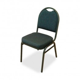 Lorell Round-Back Stack Chair (Set of 4)
