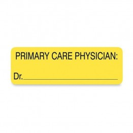 Tabbies Primary Care Physician Patient Information Label (Set of 250)