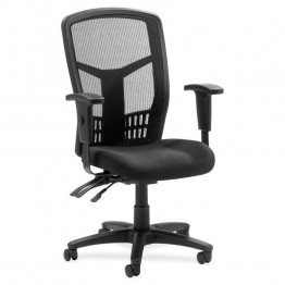 Lorell 86000 Series Executive Mesh Back Chair in Black