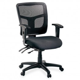 Lorell 86000 Series Managerial Mid-Back Chair in Black
