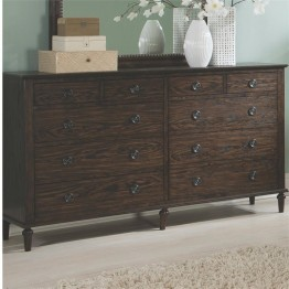 Coaster Saville 8 Drawer Dresser in Dark Oak