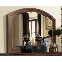 Coaster Laughton Rounded Edge Mirror in Cocoa Brown
