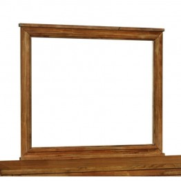 Coaster Cupertino Wood Frame Mirror in Antique Amber