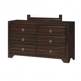 Coaster Bryce 6 Drawer Dresser in Cappuccino