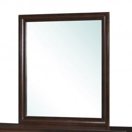 Coaster Bryce Wooden Frame Mirror in Cappuccino