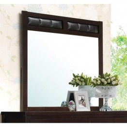 Coaster Carlton Upholstered Frame Mirror in Cappuccino