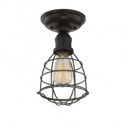 Savoy House Scout 1 Light Semi-Flush in English Bronze