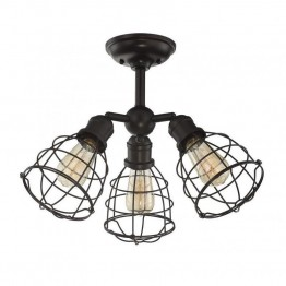 Savoy House Scout 3 Light Adjustable Semi-Flush in English Bronze