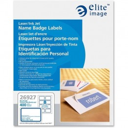 Elite Image Laser/Inkjet Name Badge Label (Set of 400)