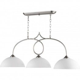 Quorum Brooks 3 Light Island Light in Satin Nickel
