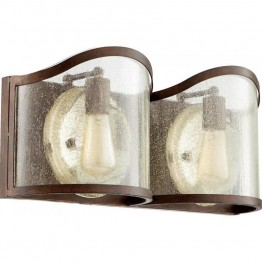 Quorum Salento 2 Light Vanity in Vintage Copper