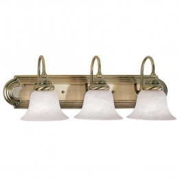 Livex Belmont Bath Light in Antique Brass