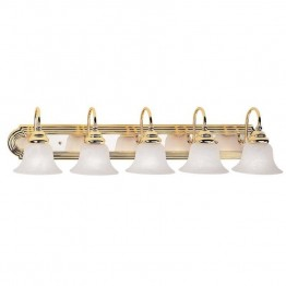 Livex Belmont Bath Light in Polished Brass and Chrome