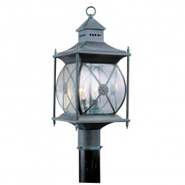 Livex Providence Outdoor Post Head in Charcoal