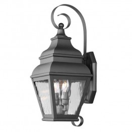 Livex Exeter Outdoor Wall Lantern in Black