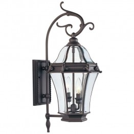 Livex Fleur de Lis Outdoor Wall Lantern in Bronze