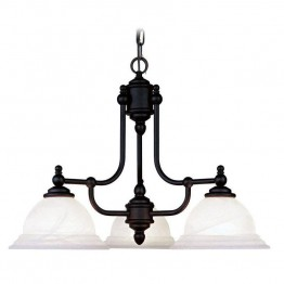 Livex North Port Chandelier in Black