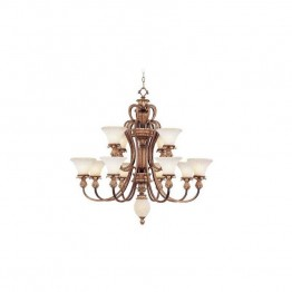 Livex Savannah Chandelier in Venetian Patina