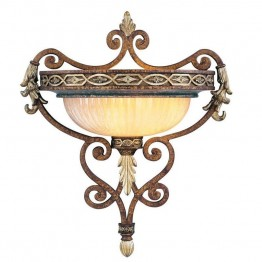 Livex Seville Wall Sconce in Palacial Bronze with Gilded Accents