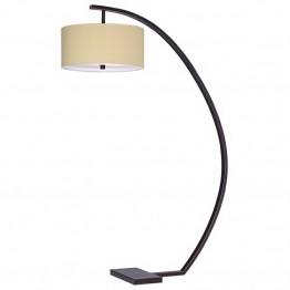 Pacific Coast Lighting Hanson Arc Floor Lamp in Oiled Bronze