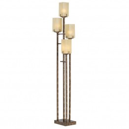 Kathy Ireland by Pacific Coast City Heights 4 Light Floor Lamp