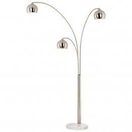 Pacific Coast Lighting Crosstown 3 Light Arc Floor Lamp in Nickel