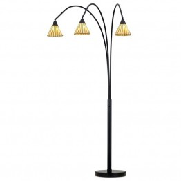 Pacific Coast Lighting Archway 3 Light Floor Lamp in Bronze