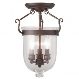 Livex Jefferson Ceiling Mount in Imperial Bronze