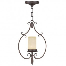Livex Millburn Manor Mini Pendant in Imperial Bronze