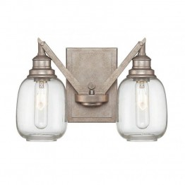 Savoy House Orsay 2 Light Sconce in Industrial Steel