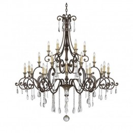 Savoy House St. Laurence 24 Light Chandelier in New Tortoise Shell with Silver