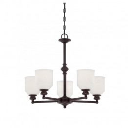 Savoy House Melrose 5 Light Chandelier in English Bronze