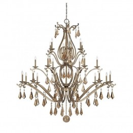 Savoy House Rothchild 24 Light Chandelier in Oxidized Silver