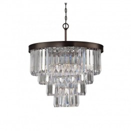 Savoy House Tierney 6 Light Chandelier in Burnished Bronze