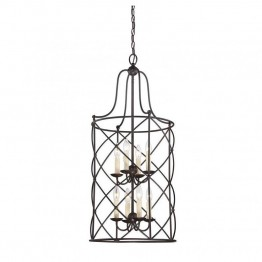 Savoy House Seneca 8 Light Foyer in English Bronze