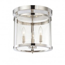 Savoy House Penrose 3 Light Semi-Flush in Polished Nickel