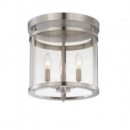 Savoy House Penrose 3 Light Semi-Flush in Satin Nickel